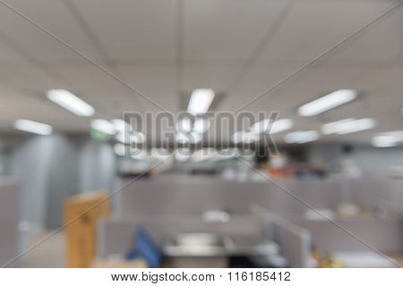 Blurred Modern Office Interior As Background