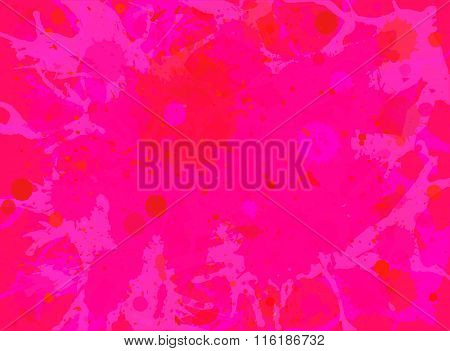 Pink Watercolor Paint Splashes Background