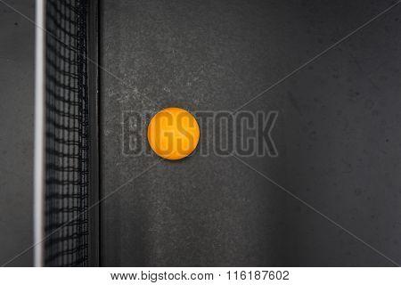 Table Tennis's Ball On Black Table