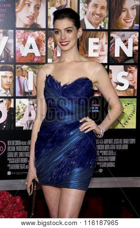 Anne Hathaway at the Los Angeles Premiere of