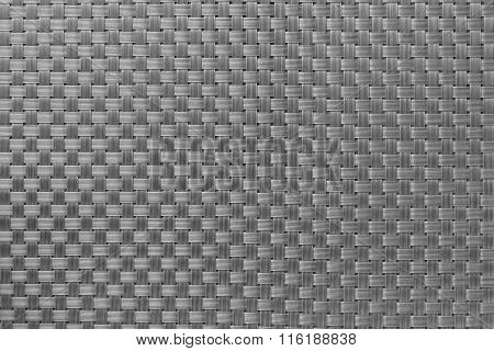 Gray Textured Surface Of Interlace Nylon Strings