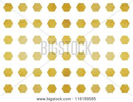 Metallic Polygon Shape Tile