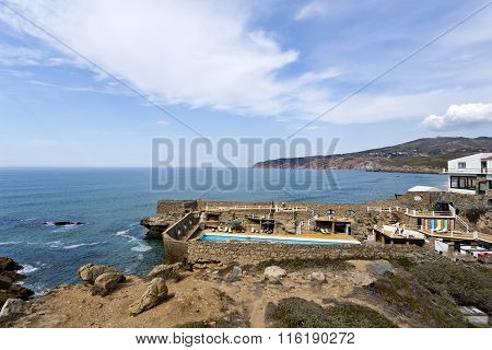 Tourist Resort With Swimming Pool By The Ocean