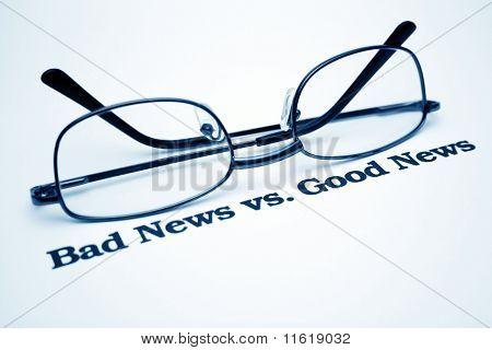 Schlechte Nachrichten vs.good Nachrichten