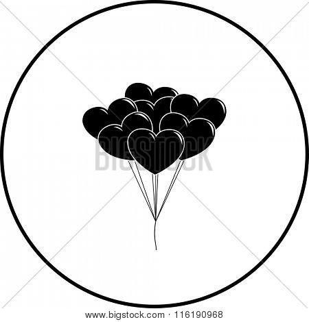 heart shaped balloons symbol