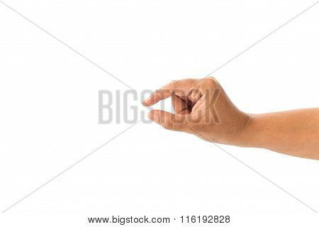 Close Up Hand Of Woman Isolated On White