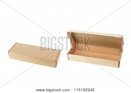 Brown Small Cardboard Box Isolated On White