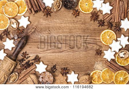 Christmas Cookies, Spices And Baking Ingredients