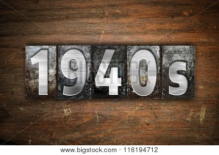 1940S Concept Metal Letterpress Type