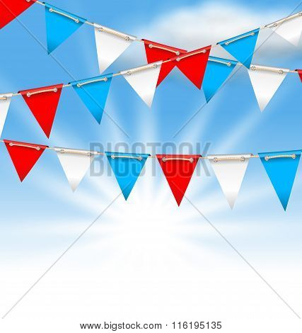 Bunting Flags for American Holidays, Patriotic Colors of USA