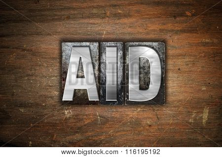 Aid Concept Metal Letterpress Type