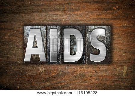 Aids Concept Metal Letterpress Type