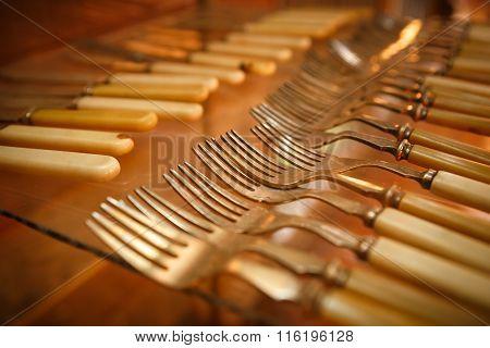 Kitchenware Set In Kitchen Room