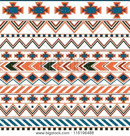 Aztec ethnic seamless pattern tribal pink and orange background. Great background for invitations and greeting cards or fashion fabric