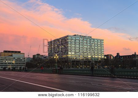 London, United Kingdom - 22 January 2016: St Thomas' Hospital In Lambeth, South London. It Is A Very