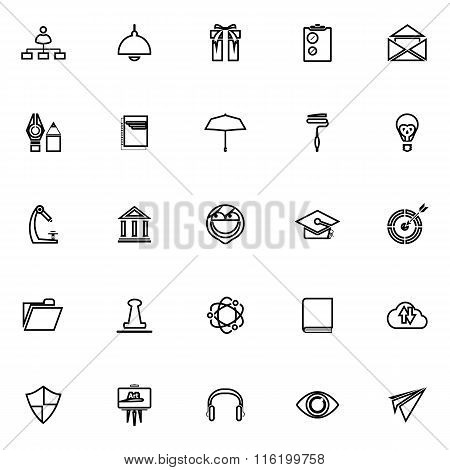 Job Resume Line Icons On White Background
