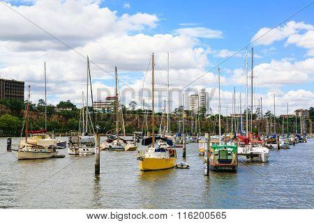 Marina on Brisbane River
