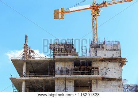 Labor Working In Construction Site