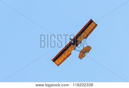Small Plane On Blue Sky
