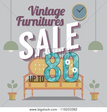 Vintage Furniture Sale Up To 80 Percent.