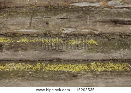 old log house wall background