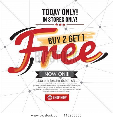 Buy 2 Get 1 Free Background.