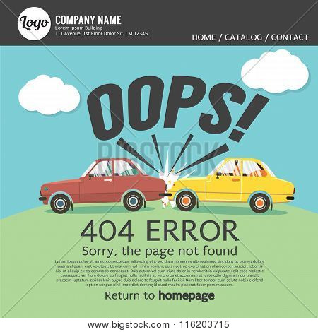 Page Not Found Error 404.