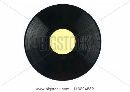 Vinyl discs on white background