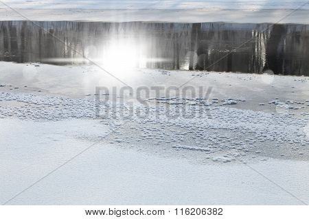 Frozen River In The Forest