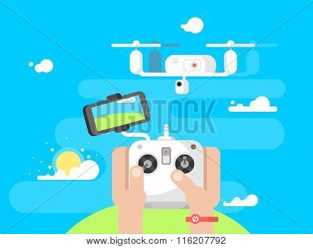 Driving quadrocopters design flat