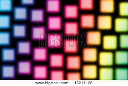Colorful Sqaure Light  Abstract Background