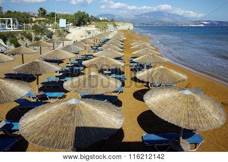 Panorama of xsi beach, Kefalonia, Ionian Islands, Greece