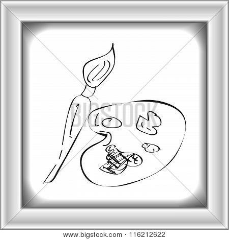 Simple Doodle Of A Paint Pallet