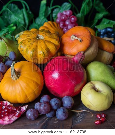 Rich Harvest Of Various Fruits