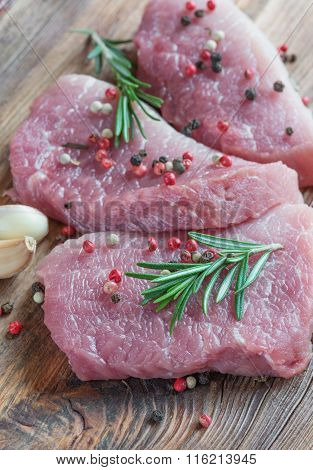 Three Pieces Of Fresh Organic Meat