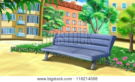 Bench in the Courtyard