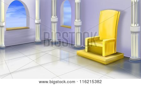 Ancient Temple Interior