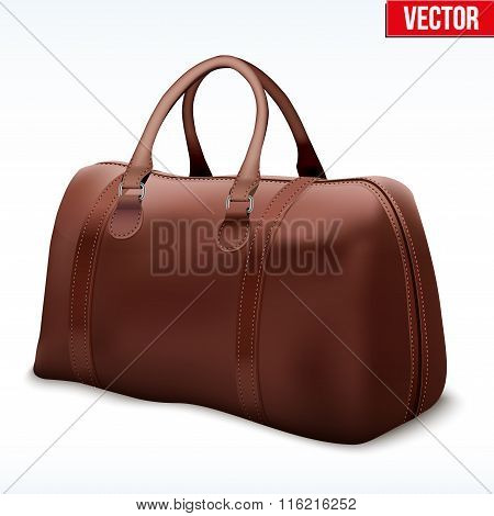 Classic Brown Leather Bag