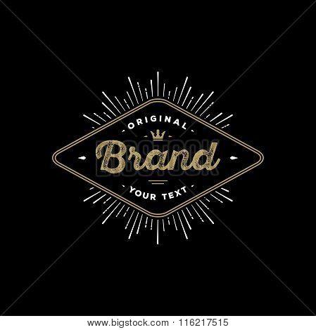 Brand Rhombus Black