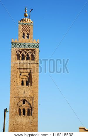 Street Lamp   Maroc Africa  Minaret Religion And The Blue     Sky