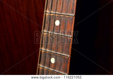 old guitar fretboard