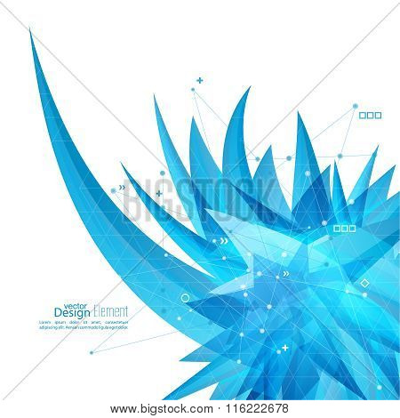 Abstract background with crystal virus.