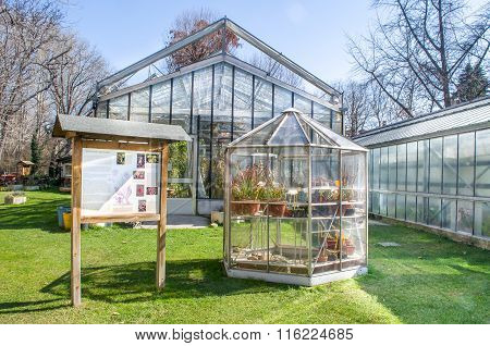 Bologna, Italy - March 7, 2015: Greenhouses Of Botanical Garden