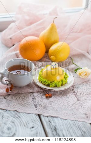 Lemon Dessert With Citrus