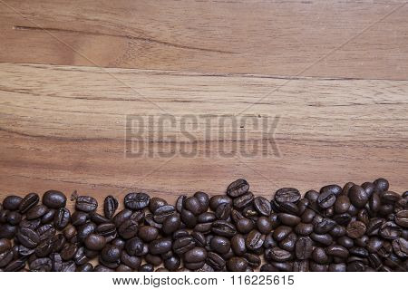 Coffee Beans And Copy Space