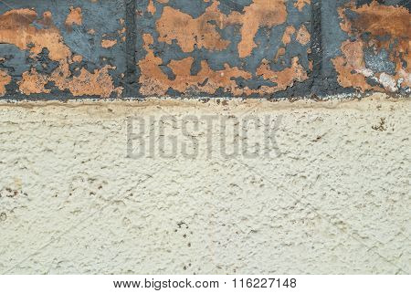chipped paint on an old plaster wall texture background