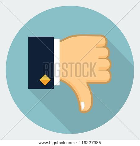 Vector thumb down icon