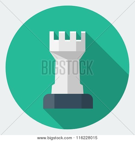 Vector Chess Rook icon