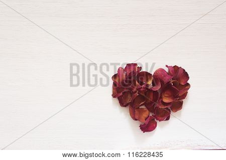 Dried Rose Heart Shape