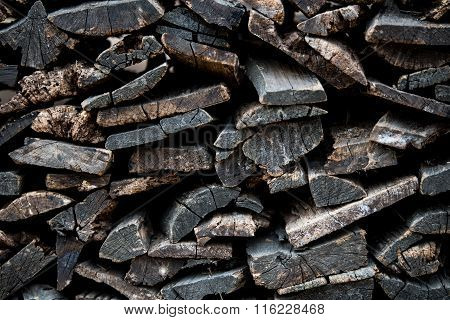 Pile Of Cutted Firewood